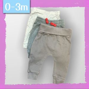 $10 Add-On! 3 pair infant joggers - 0-3m